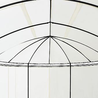 vidaXL Gartenpavillon Cremeweiß 530x350x265 cm
