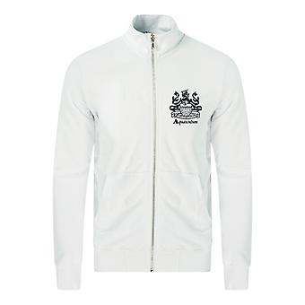 Aquascutum Aldis Logo Zip Sweater White Jacket