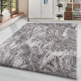 Pile corta soggiorno tappeto designer tappeto vintage motivo blurred marrone beige