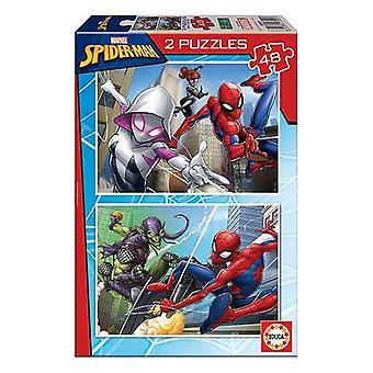 Puzzle Spiderman Educa (2 x 48 pcs)