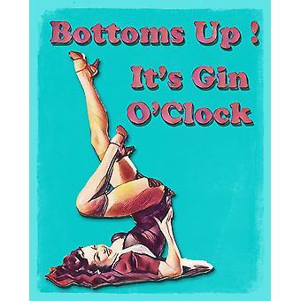 Vintage Metal Sign bunde sin Gin OClock