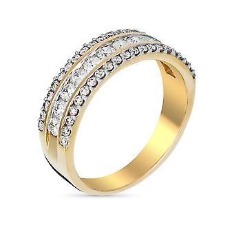 Ring Alliance 'Desire' Geel Goud en Diamanten