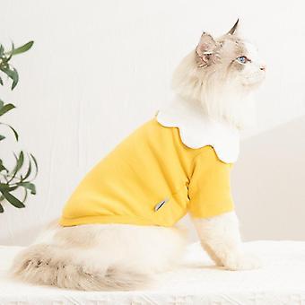 Printemps et automne vêtements pour animaux de compagnie collier de fleurs vêtements de chat