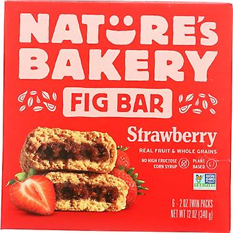 Natures Bakery Bar Fig Whlwht Strwbrry, Case of 6 X 12 Oz