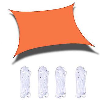 Sun Shade Sails Canopy 118x118 In For Patio Garden Outdoor Facility And Activities(Orange)