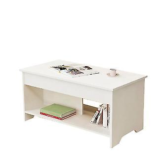 Valkoinen 100x50x48.5cm monitoiminen nosto sohvapöytä homi4527
