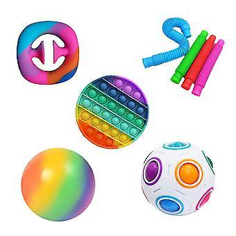 Aisti fidget lelut set, stressin lievitys ja ahdistuneisuus, useita yhdistelmiä (POP IT 8 Pakkaus)