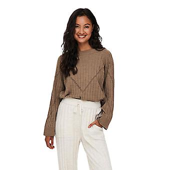 Only Women's Tessa Loose Fitted Knitted Brown