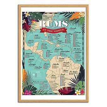Art-Poster - Beste rum ter wereld - Frog Posters