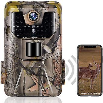 Wifi trail camera  live show bluetooth app control hunting cameras 24mp 1296p night vision ip66 outdoor wildlife surveillance