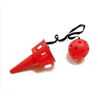 Kids's Kaste Catching Ball Udendørs Sports Equipment Catcher Fun Legetøj (Rød)