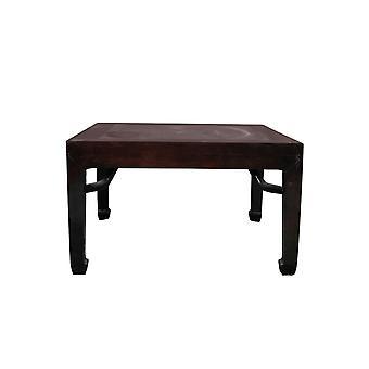 Hieno aasialainen antiikkinen kiinalainen sohvapöytä, jossa marmorinen yläosa W90xD90xH51cm