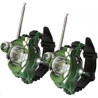 2pcs 7 In 1 Walkie Talkie For Kids, Two-way Radio Walkie Talkie Watches For Kids Toy Gifts