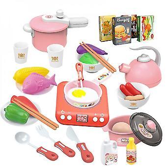 Kids Kitchen  Cooking Set Utensils Little Chef For Kids Kitchen Playsets(PINK)