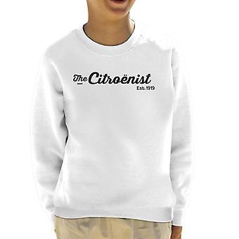 Citroen Citroenst Est 1919 Svart Logotyp Kid's Sweatshirt