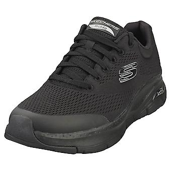 Skechers Arch Fit Mens Casual Trainers in Black Black