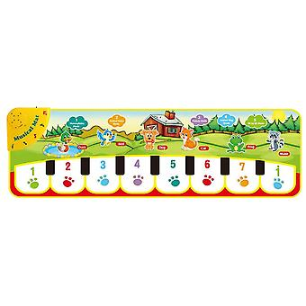90x27cm Baby Musical Play Mat Animals Sound 8 Instruments Tone Piano Keyboard