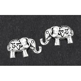 Orecchini a perno placcati argento elefante carino