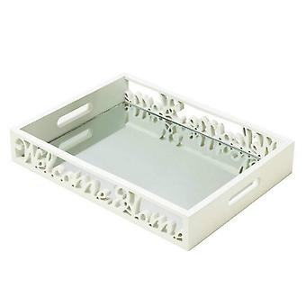 Accent Plus Welcome Home Mirrored Wood Tray, Pack of 1