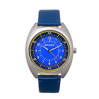 Breed Victor Leather-Band Watch - Blue