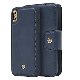iPhone X / Xs Marvêlle Magnetisk Skall & Lommebok Blå