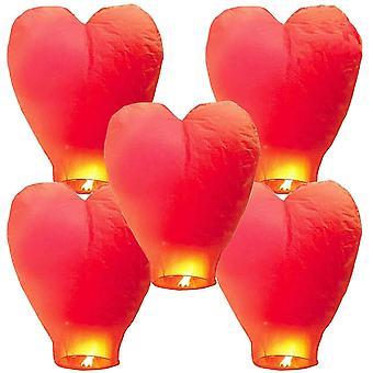 Chinesische Himmelslaterne Kongming Laterne Biologisch abbaubare ökologische feuerfeste Papier Wünsche Segen Lampe 5pcs