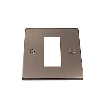 Causeway 1 Gang Single Modular Plate, Satin Chrome