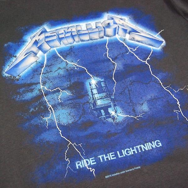 Amplifié amplifié Mens Metallica Ride la foudre T Shirt Charcoal