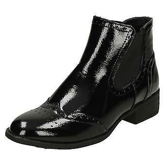 Damen-Punkt auf Mitte Heel Ankle Boots F50841
