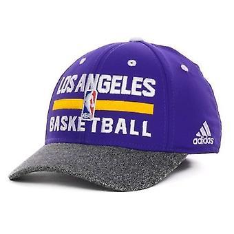 "Los Angeles Lakers NBA Adidas ""Team Practice"" Stretch utrustade hatt"