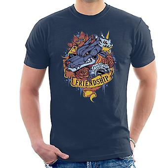 Amistad Tattoo Digimon Gabumon y camiseta Gabumon hombres de Metal
