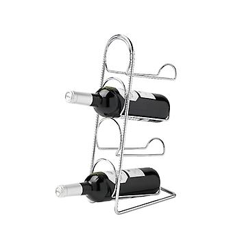 Pise 4 Bottle Wine Rack, chromé