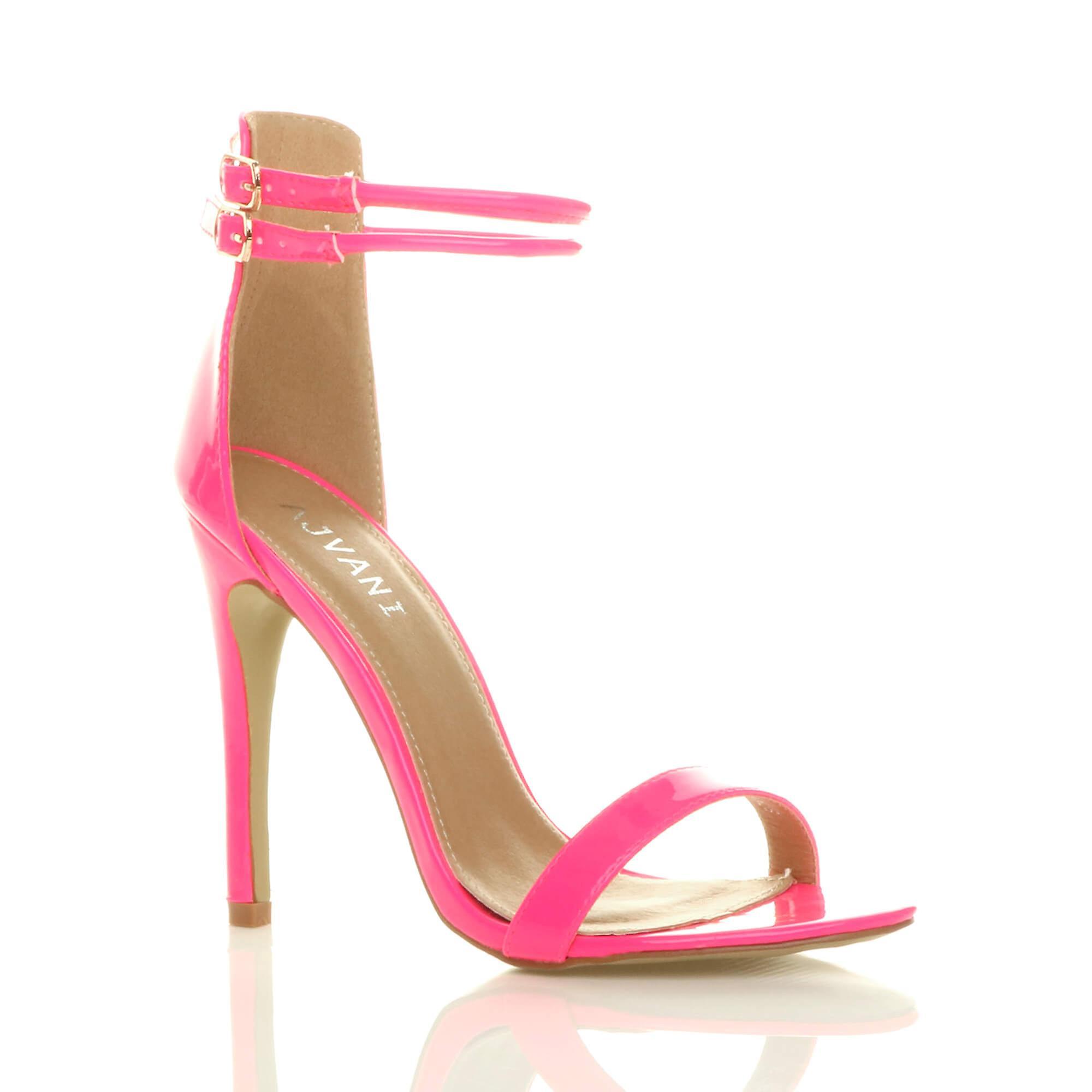Ajvani damskie wysokie szpilki ledwo tam podwójny pasek klamra stroną sandały buty D4Izk