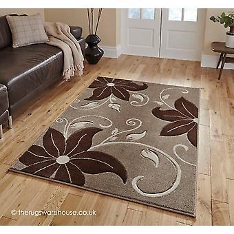Menia Beige bruin tapijt