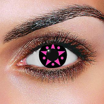 Pink Starlight Contact Lenses