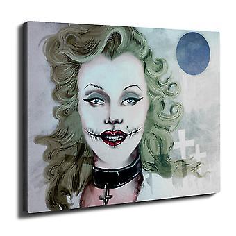 Woman Art Famous Wall Art Canvas 40cm x 30cm | Wellcoda