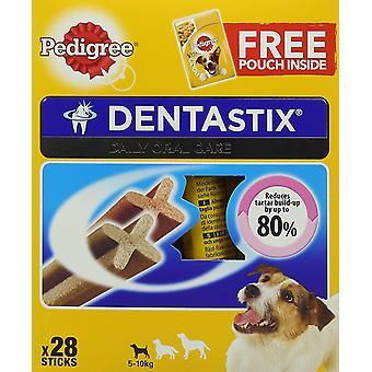 Pedigree Dentastix Dental hond kauwt - kleine hond, verpakking van 4 (totaal 4 x 28 Sticks)