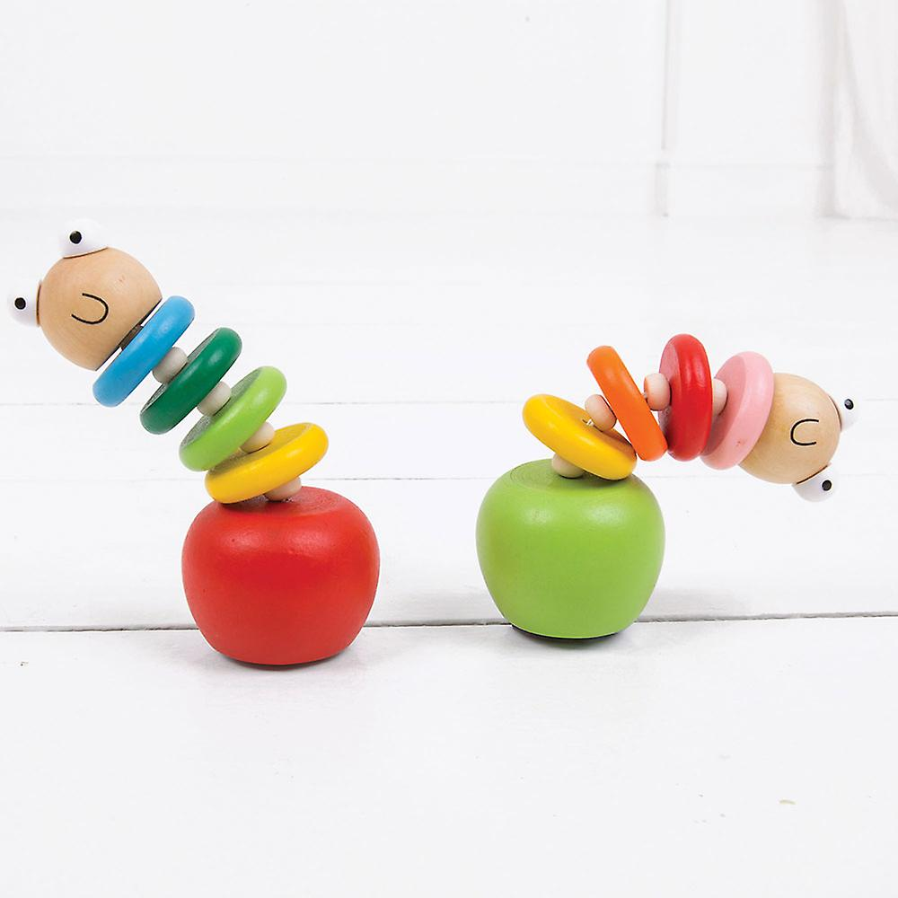 Bigjigs Toys Wooden Push Up Worms (Pack of 2) Traditional Stocking Fillers