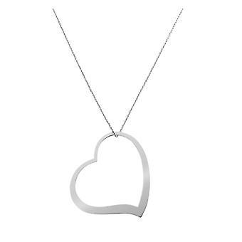Orphelia hopea 925 kaulakoru suuri sydän ZK-7193