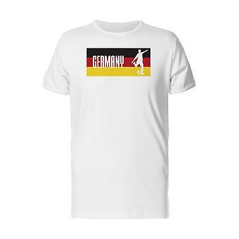 Soccer Player On German Flag Men's Safety Orange T-shirt