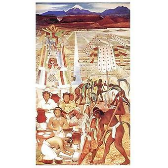 Civilizacion Huasteca Poster trykk av Diego Rivera (17 x 24)