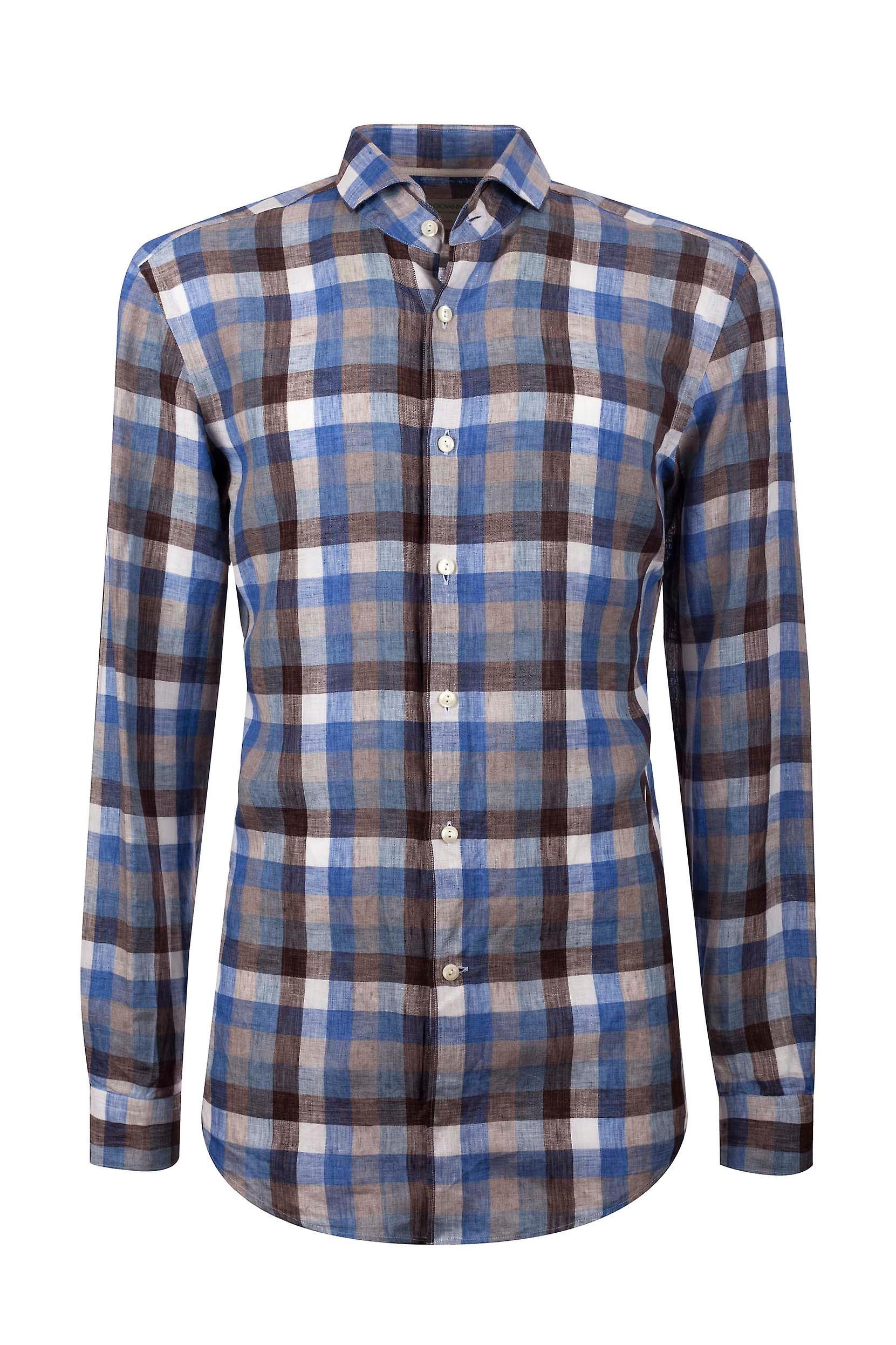 Fabio Giovanni San Marco Shirt - hochwertige feinste italienische Bettwäsche Check Shirt