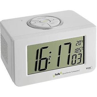 TFA 60.2516 Radio Alarm klok wit Alarm keer 1