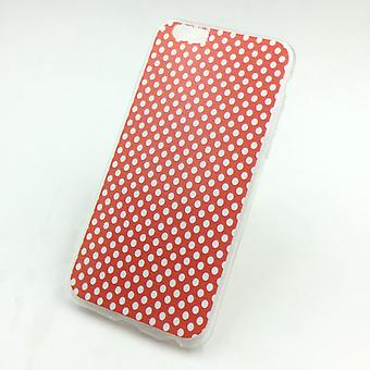 Cell phone case för Apple iPhone 6 / 6s polka dot röd fall täcka + 1 x tank skyddsglas