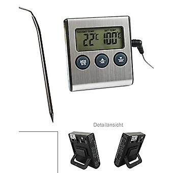 Digital Oven Thermometer with Probe / Heat Resistant Up to 250 °C with Alarm and Timer Function Magnetic and on / off Switch and Analogue Thermomete