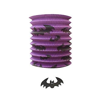 TRIXES Pop up Purple Bat Barrel Lamp Halloween Party Decoration Lantern