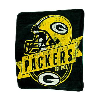 Green Bay Packers Micro Raschel Super Soft Plush Throw Blanket 60 x 50 inch