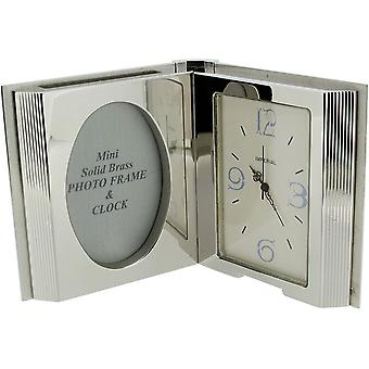 Gift Time Products Open Book Miniature Clock - Silver