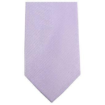 Knightsbridge Neckwear Plain Diagonal Ribbed Tie - Lilac