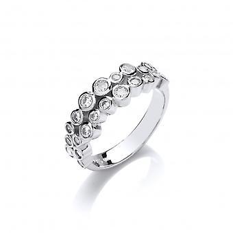 Cavendish franske Slim CZ bobler Ring